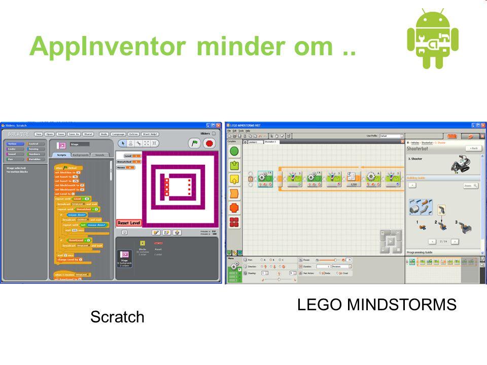AppInventor minder om.. Scratch LEGO MINDSTORMS