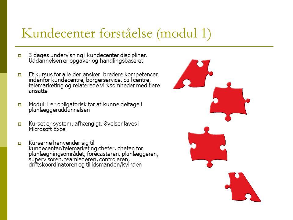 Kundecenter forståelse (modul 1)  3 dages undervisning i kundecenter discipliner.