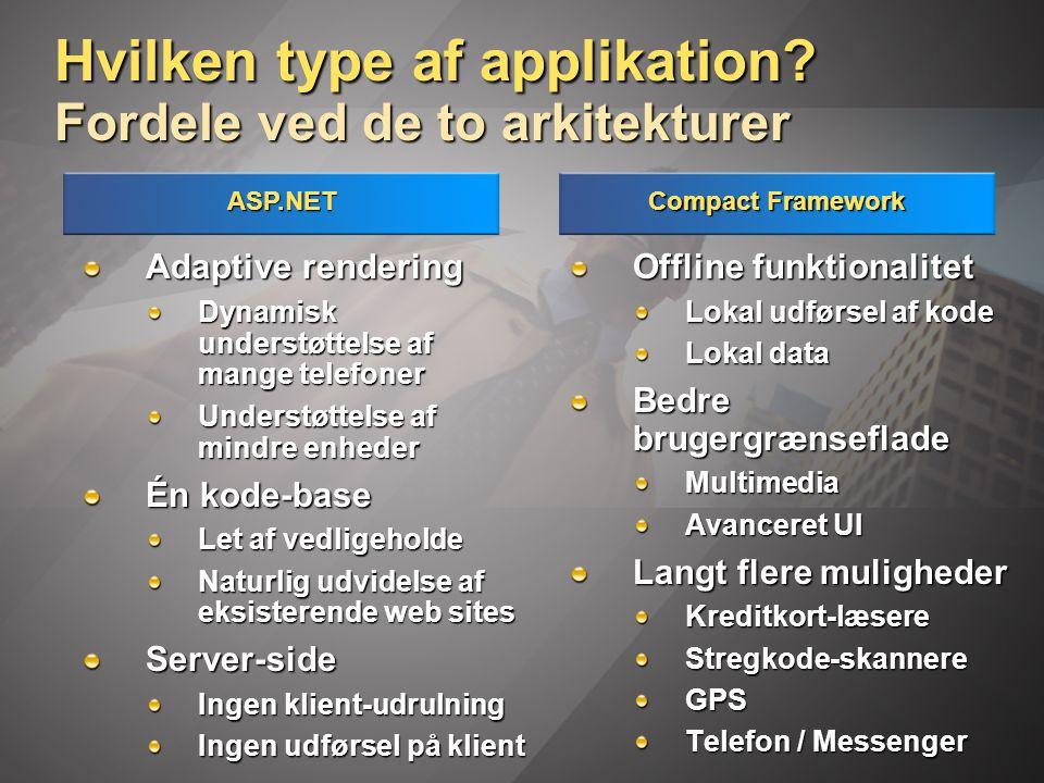 Hvilken type af applikation.