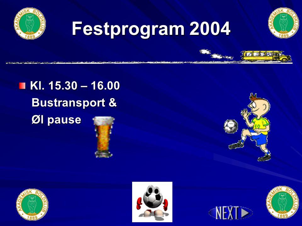 Festprogram 2004 Kl. 13.00 – 15.00 - 1. aktivitet - 1.