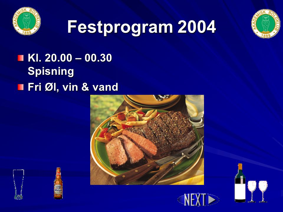 Festprogram 2004 Kl. 16.00 – 18.30 - 2. aktivitet - 2.