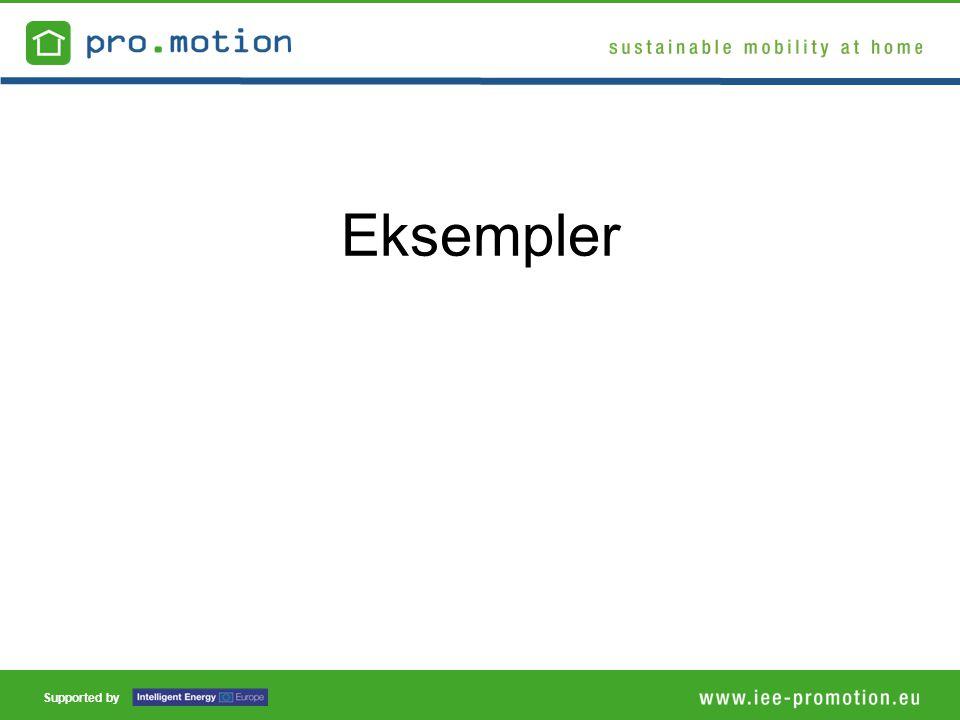 Supported by Eksempler