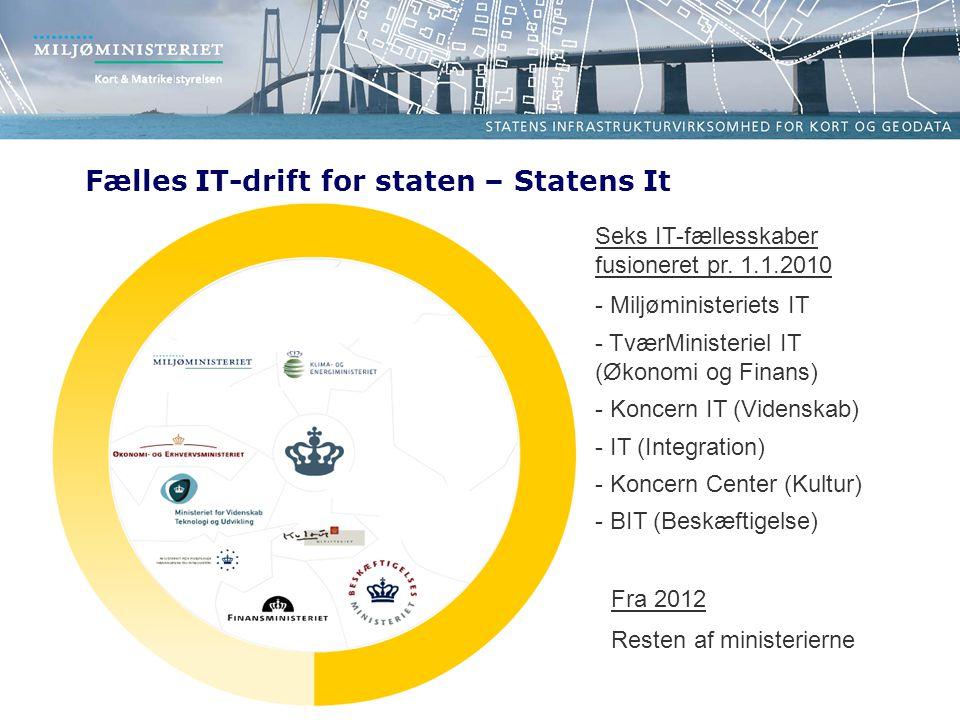 Fælles IT-drift for staten – Statens It Seks IT-fællesskaber fusioneret pr.