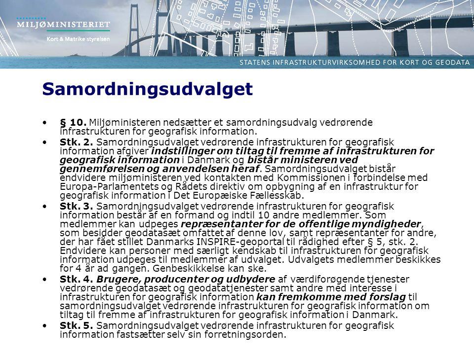 Samordningsudvalget •§ 10.