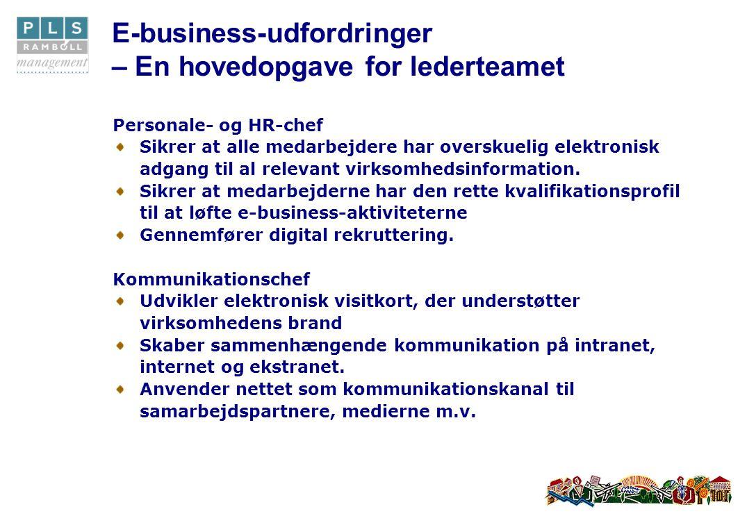 Personale- og HR-chef Sikrer at alle medarbejdere har overskuelig elektronisk adgang til al relevant virksomhedsinformation.