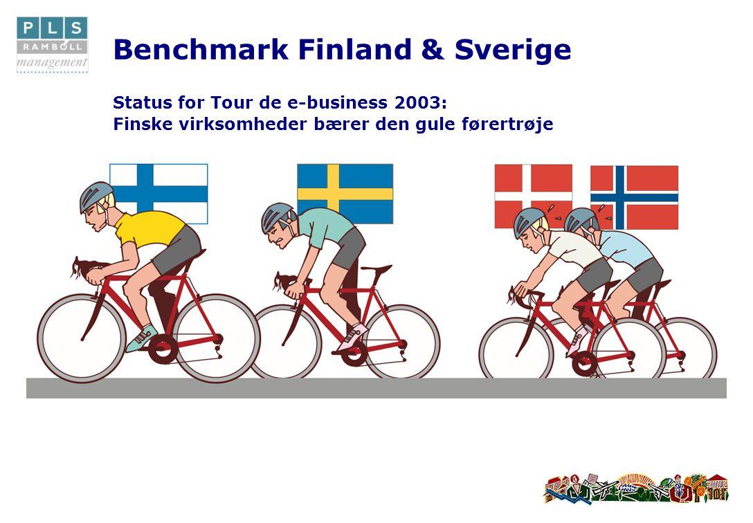 Benchmark Finland & Sverige Status for Tour de e-business 2003: Finske virksomheder bærer den gule førertrøje