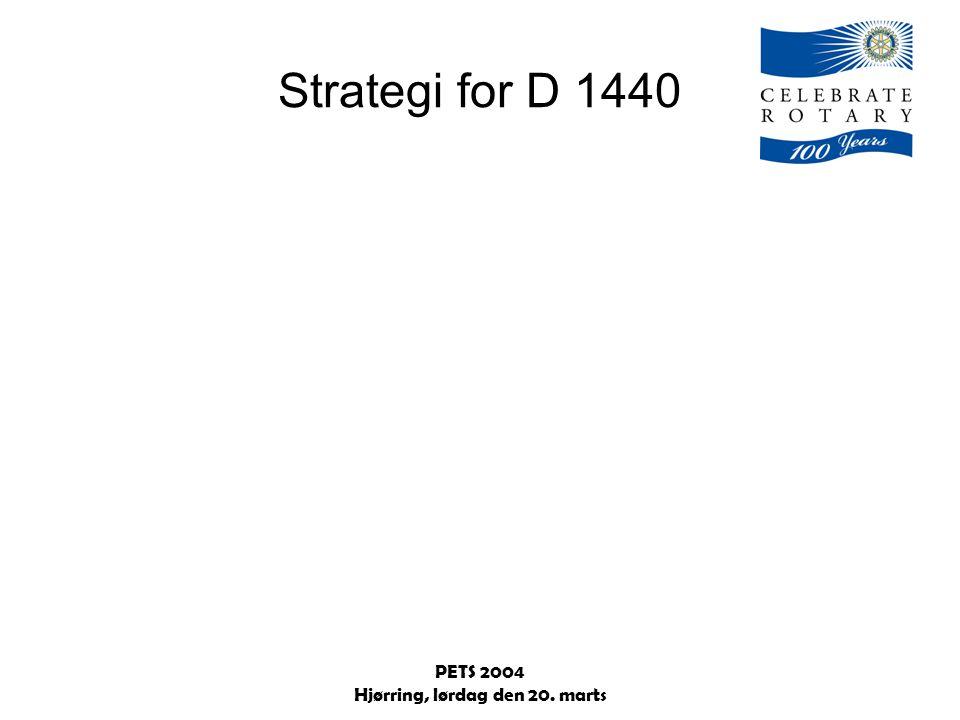PETS 2004 Hjørring, lørdag den 20. marts Strategi for D 1440