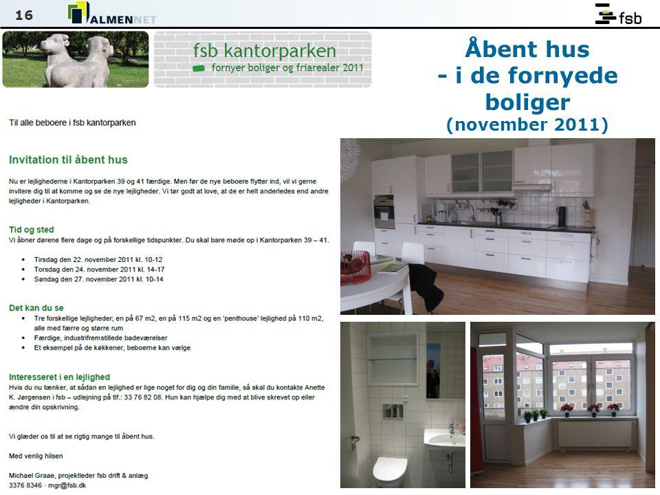 16 Åbent hus - i de fornyede boliger (november 2011)