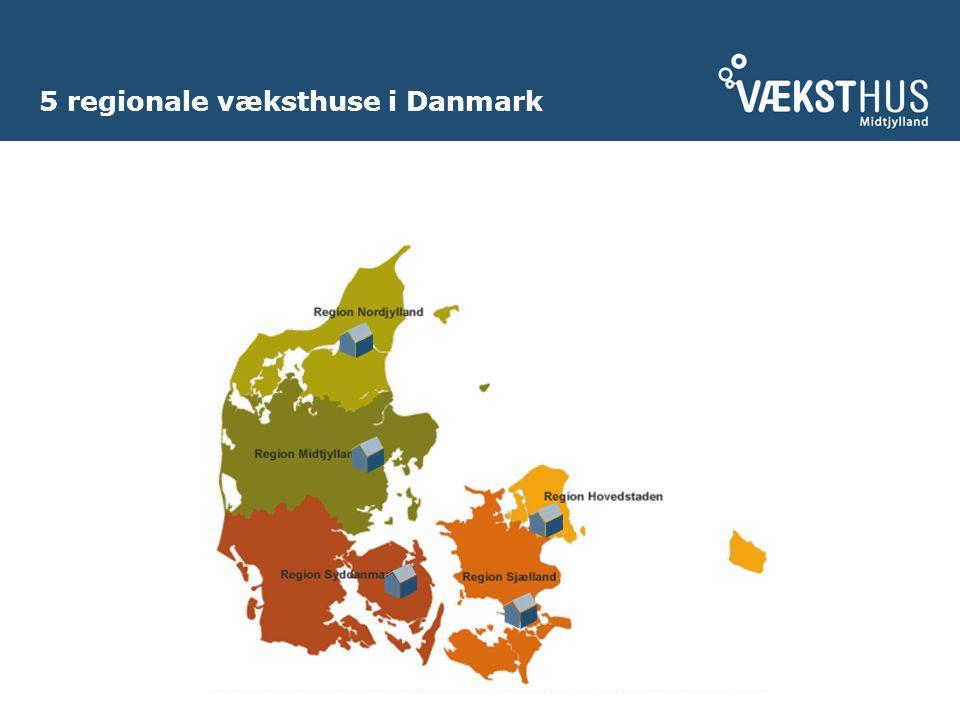 5 regionale væksthuse i Danmark