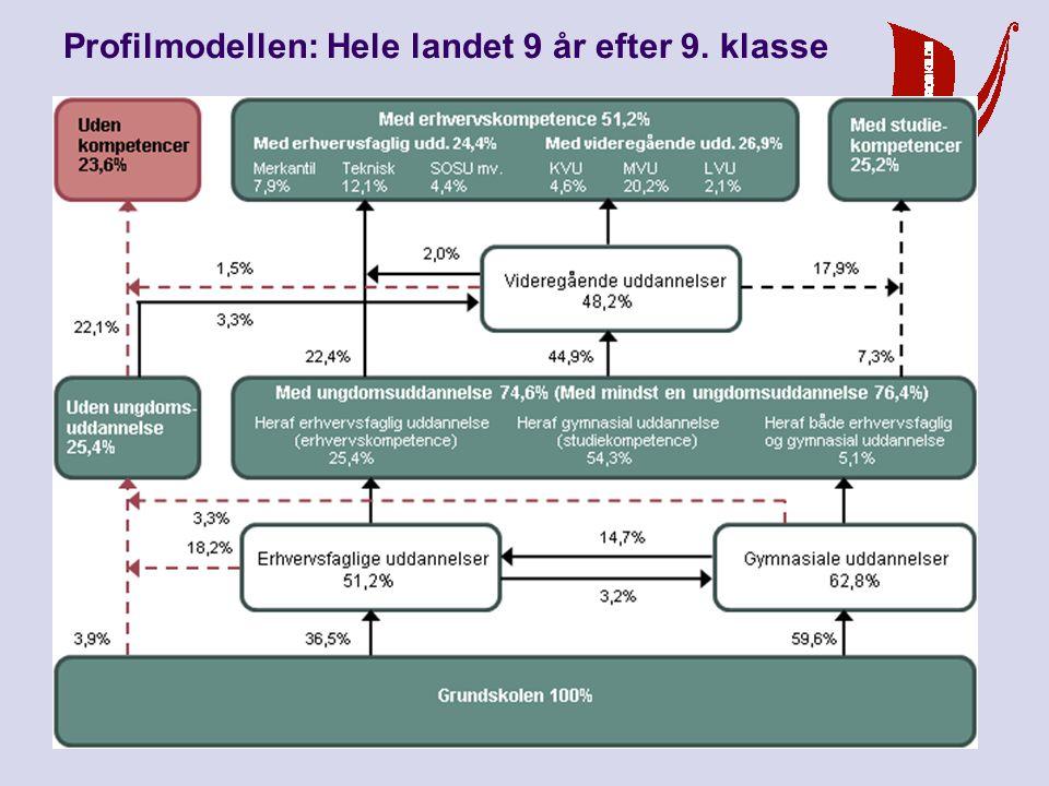 9. september 2010 Vi når målet - men hvordan Profilmodellen: Roskilde 9 år efter 9. klasse