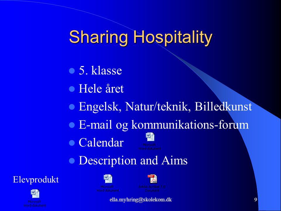ella.myhring@skolekom.dk9 Sharing Hospitality  5.