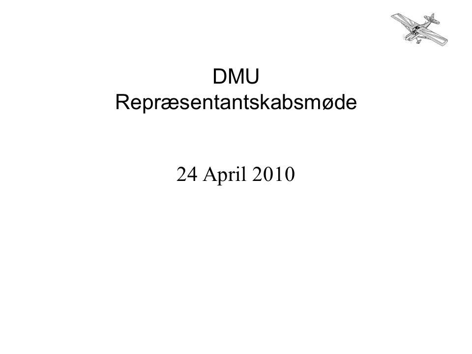 DMU Repræsentantskabsmøde 24 April 2010