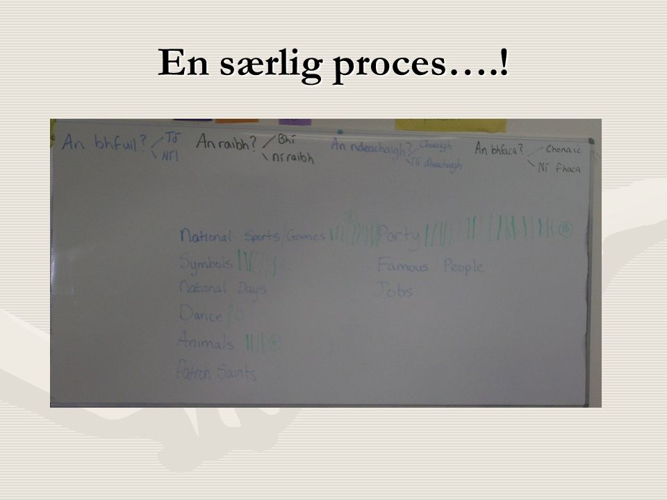 En særlig proces….!