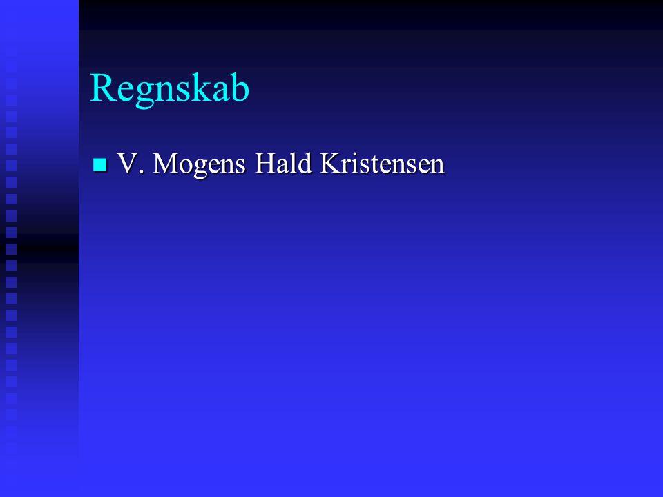 Regnskab  V. Mogens Hald Kristensen