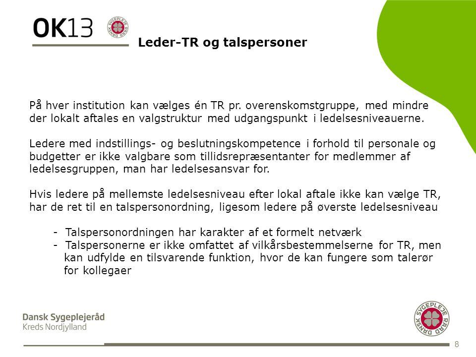 BLANK 8 På hver institution kan vælges én TR pr.