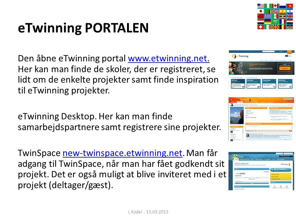 eTwinning PORTALEN Den åbne eTwinning portal www.etwinning.net.