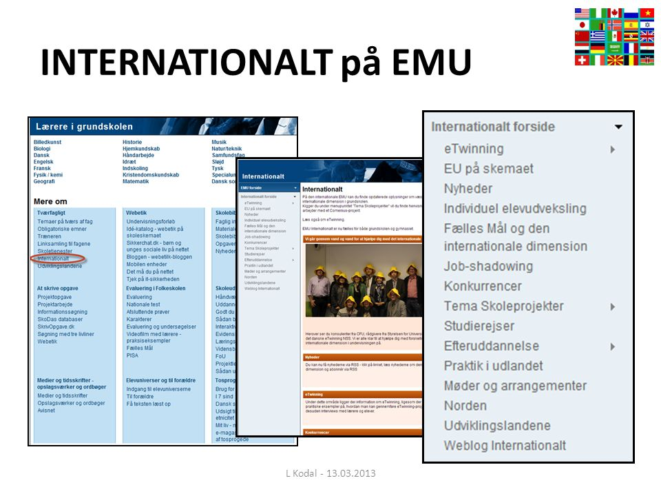 INTERNATIONALT på EMU L Kodal - 13.03.2013