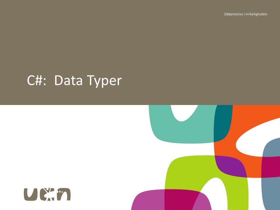 C#: Data Typer