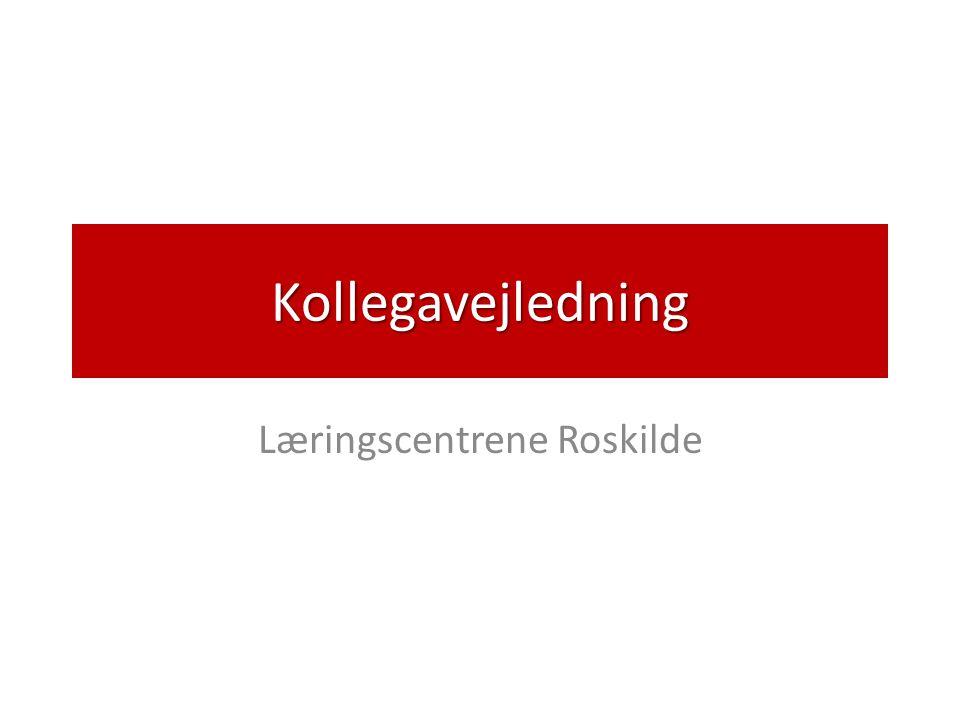 Kollegavejledning Læringscentrene Roskilde