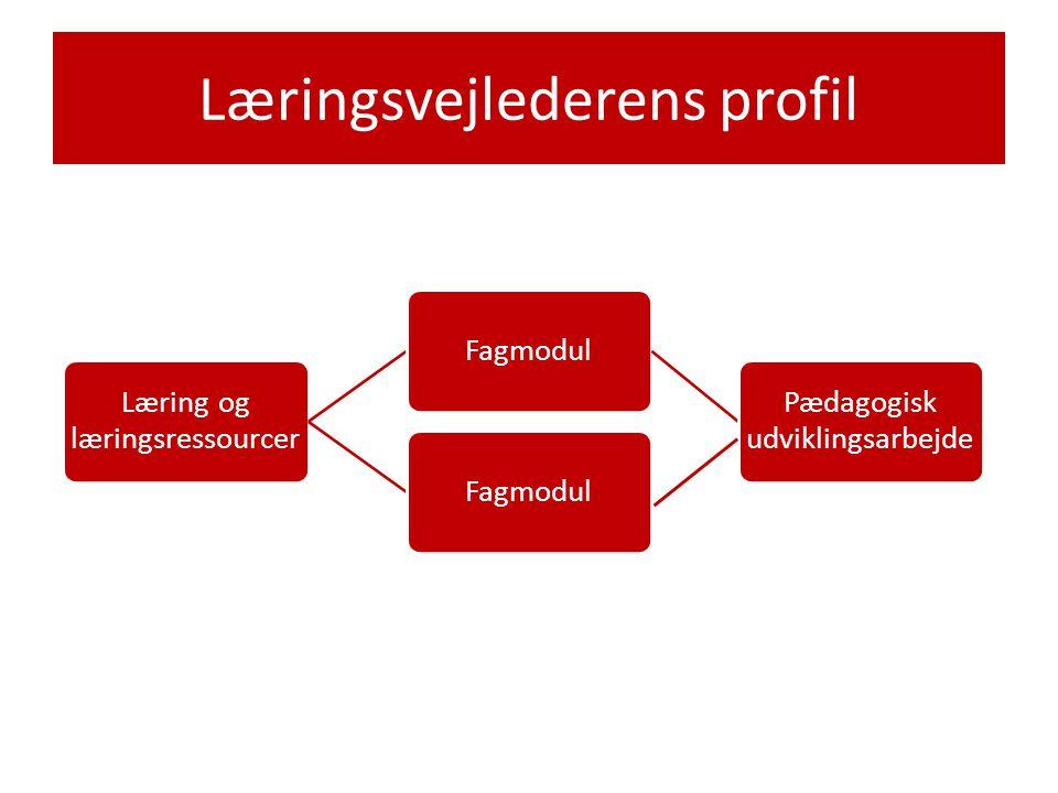Læringsvejlederens profil Læring og læringsressourcer Fagmodul Pædagogisk udviklingsarbejde Fagmodul