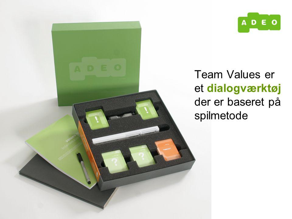 Team Values er et dialogværktøj der er baseret på spilmetode