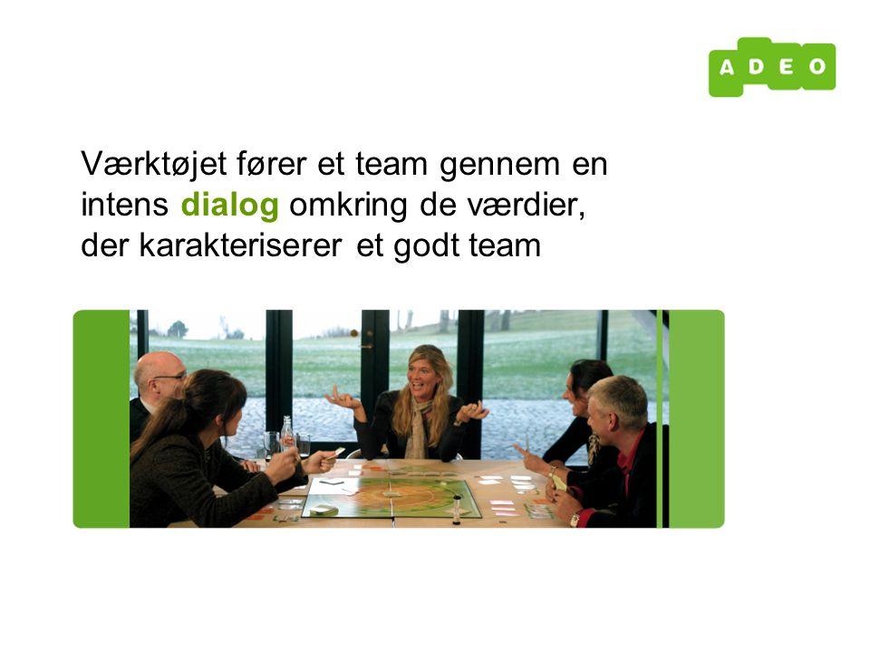 Værktøjet fører et team gennem en intens dialog omkring de værdier, der karakteriserer et godt team
