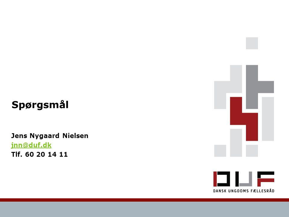Spørgsmål Jens Nygaard Nielsen jnn@duf.dk Tlf. 60 20 14 11