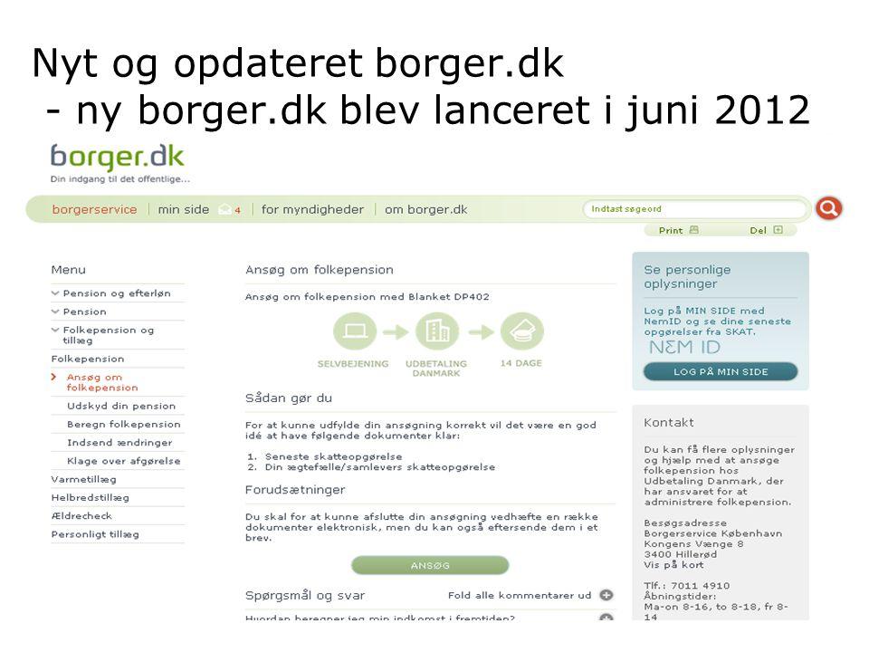 Nyt og opdateret borger.dk - ny borger.dk blev lanceret i juni 2012