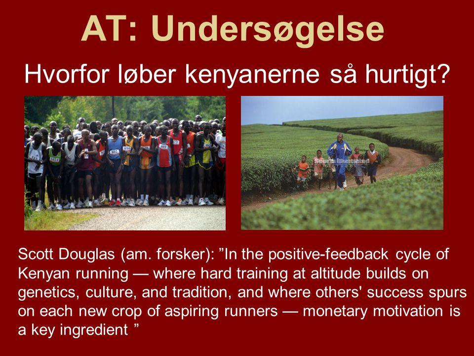 AT: Undersøgelse Hvorfor løber kenyanerne så hurtigt.