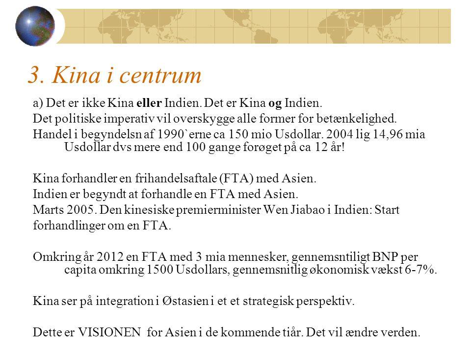 3. Kina i centrum a) Det er ikke Kina eller Indien.