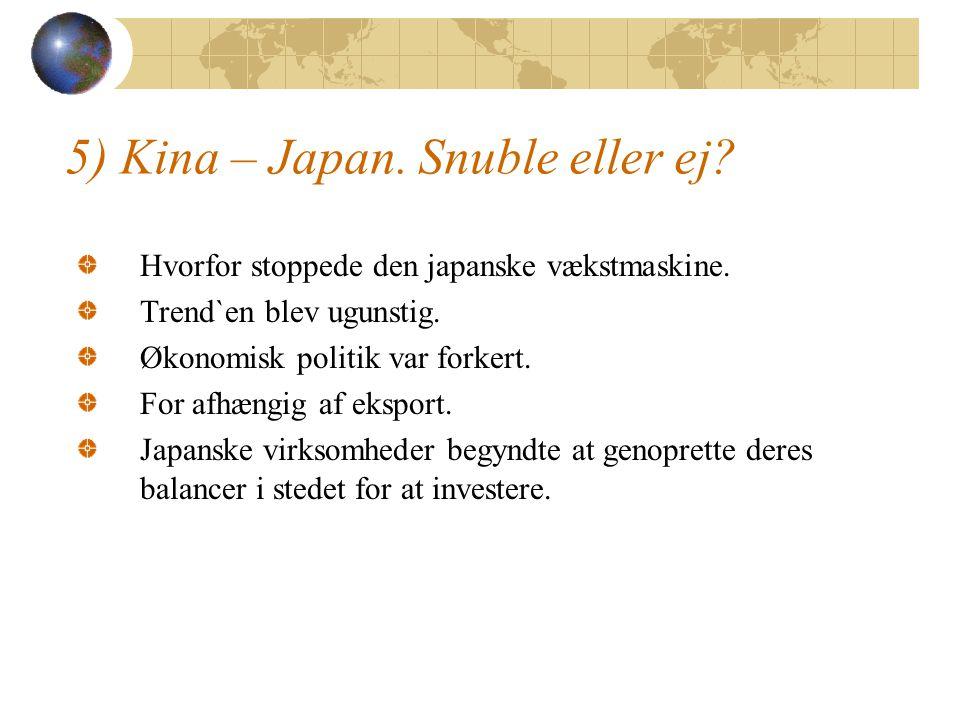 5) Kina – Japan. Snuble eller ej. Hvorfor stoppede den japanske vækstmaskine.