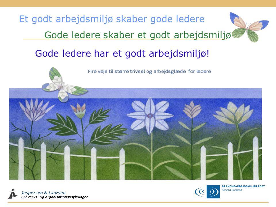 Jespersen & Laursen Erhvervs- og organisationspsykologer Gode ledere har et godt arbejdsmiljø.