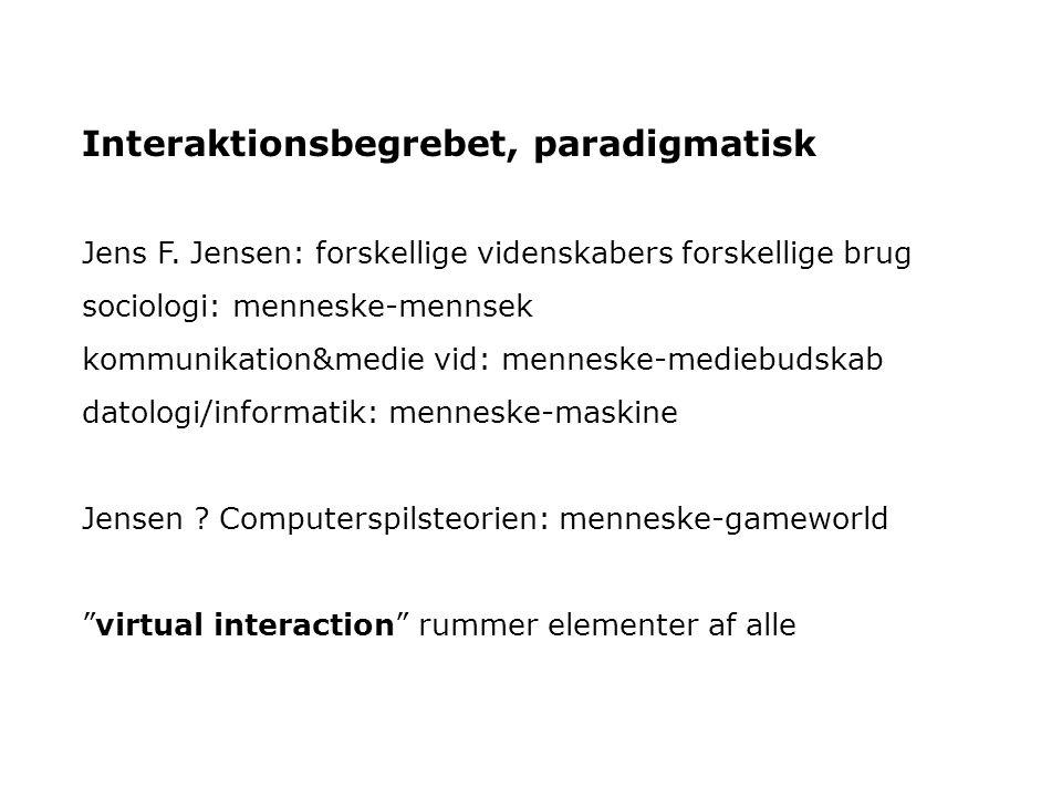 Interaktionsbegrebet, paradigmatisk Jens F.