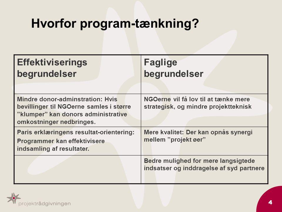 4 Hvorfor program-tænkning.