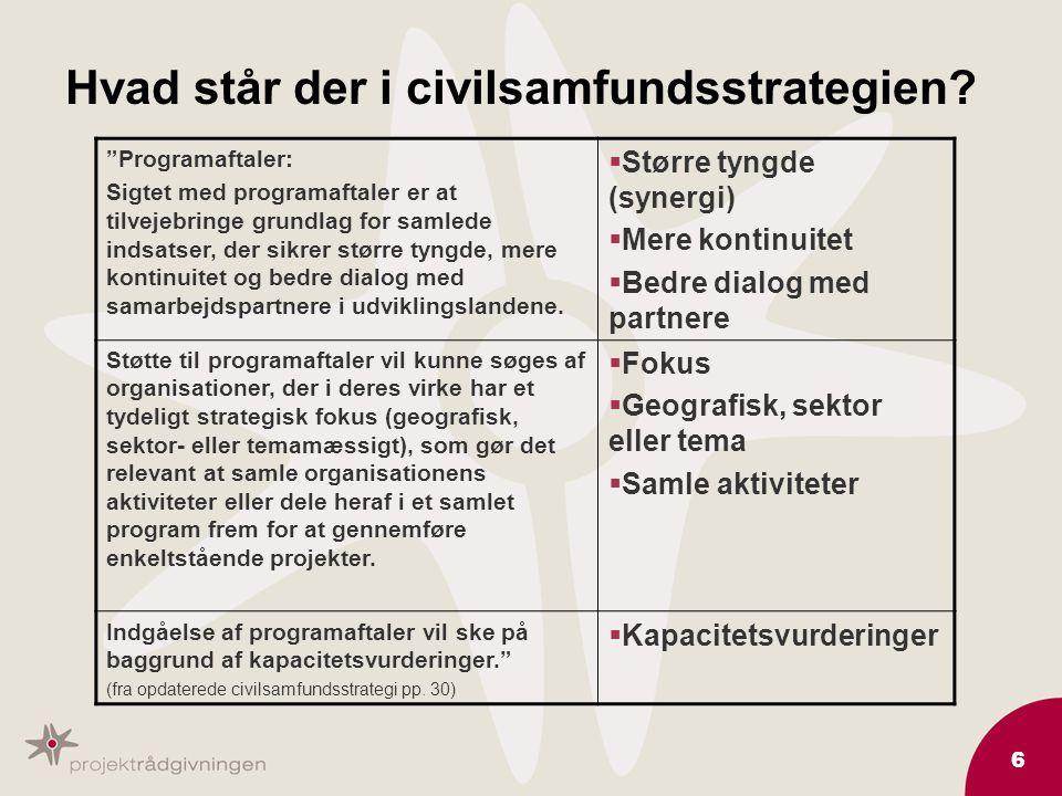 6 Hvad står der i civilsamfundsstrategien.
