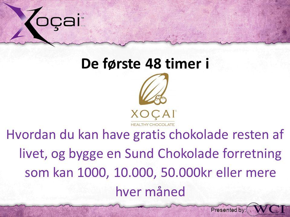 De første 48 timer i Hvordan du kan have gratis chokolade resten af livet, og bygge en Sund Chokolade forretning som kan 1000, 10.000, 50.000kr eller mere hver måned Presented by: