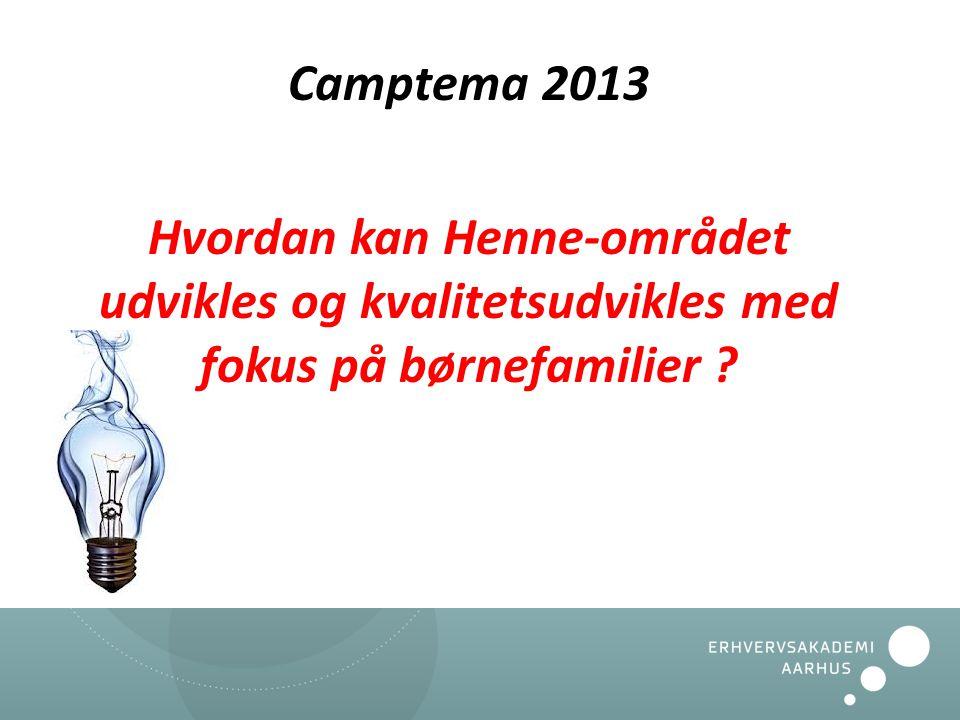 Camptema 2013 Hvordan kan Henne-området udvikles og kvalitetsudvikles med fokus på børnefamilier