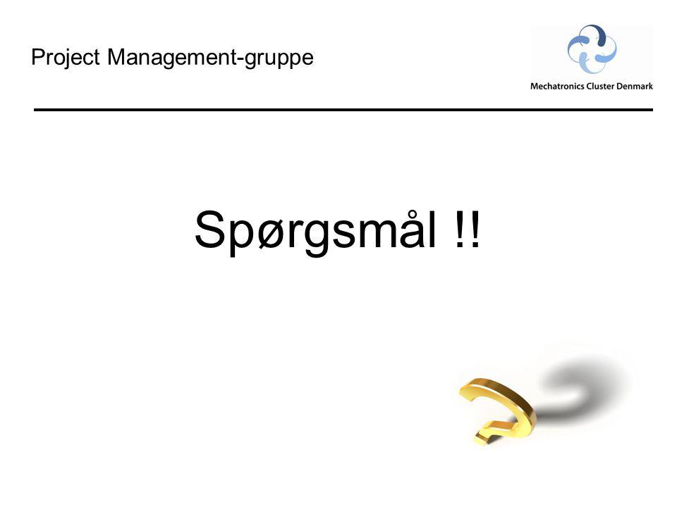 Project Management-gruppe Spørgsmål !!