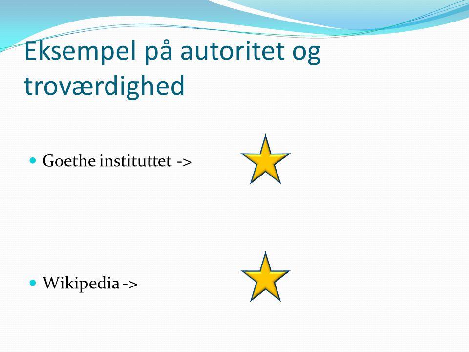 Vurdering af hjemmesider  Gode råd findes bl.a. på Novo Nordisk Projektet ->  Og på EMU ->