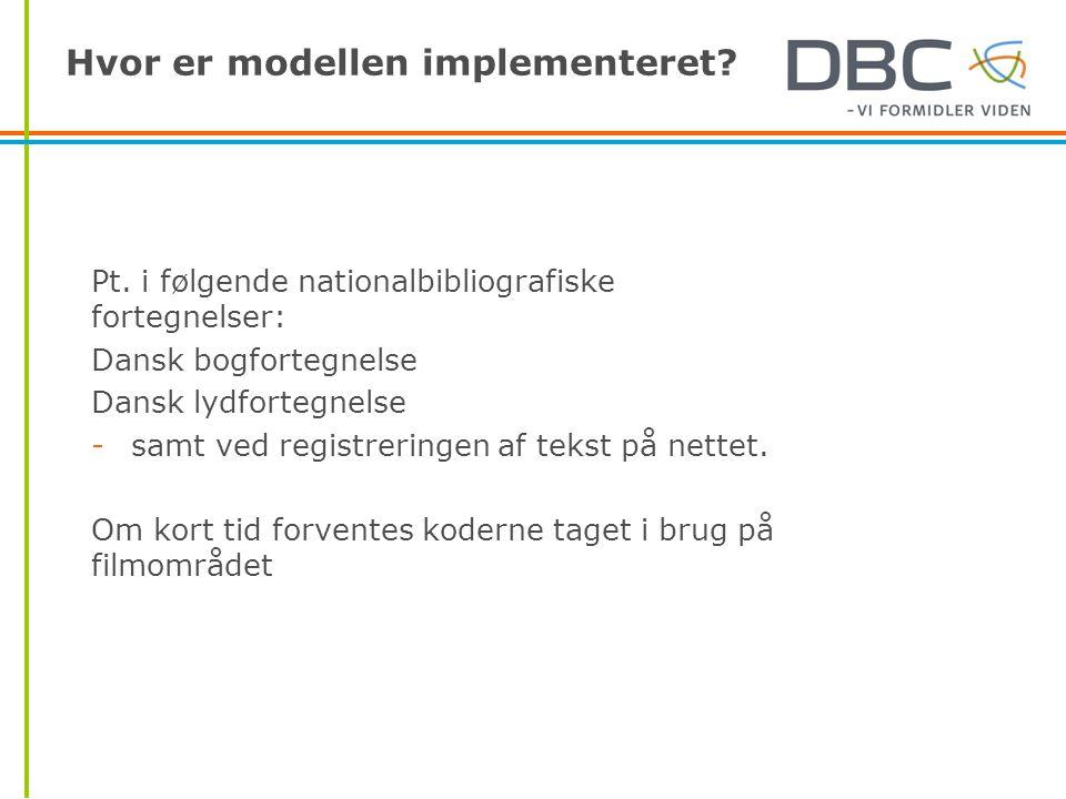 Hvor er modellen implementeret. Pt.