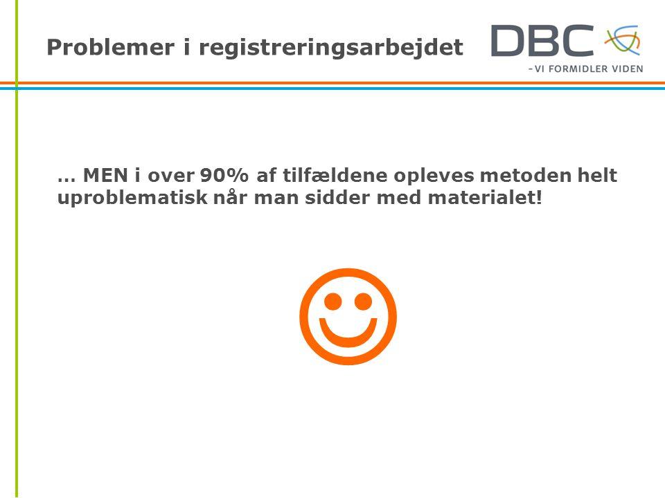 … MEN i over 90% af tilfældene opleves metoden helt uproblematisk når man sidder med materialet! 