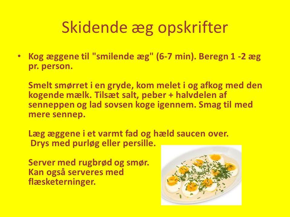 Skidende æg opskrifter • Kog æggene til smilende æg (6-7 min).
