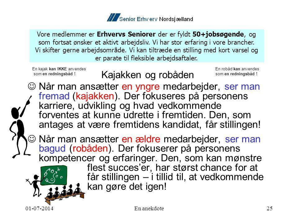 01-07-2014En anekdote25  Når man ansætter en yngre medarbejder, ser man fremad (kajakken).