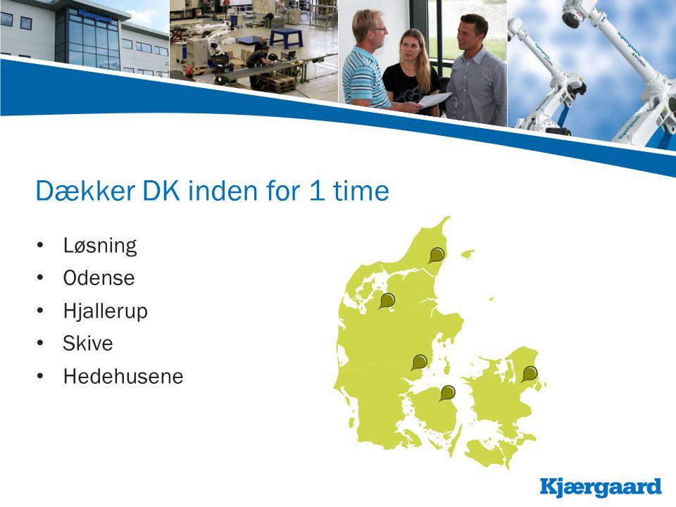 Dækker DK inden for 1 time • Løsning • Odense • Hjallerup • Skive • Hedehusene