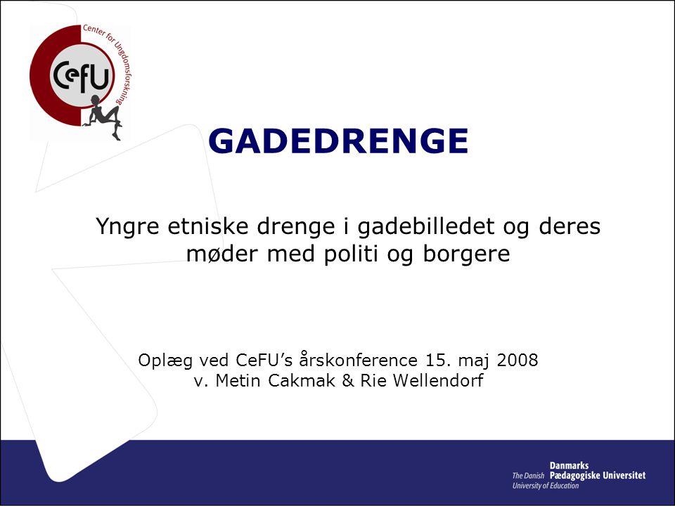 • GADEDRENGE Oplæg ved CeFU's årskonference 15. maj 2008 v.