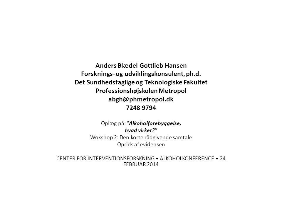 Anders Blædel Gottlieb Hansen Forsknings- og udviklingskonsulent, ph.d.