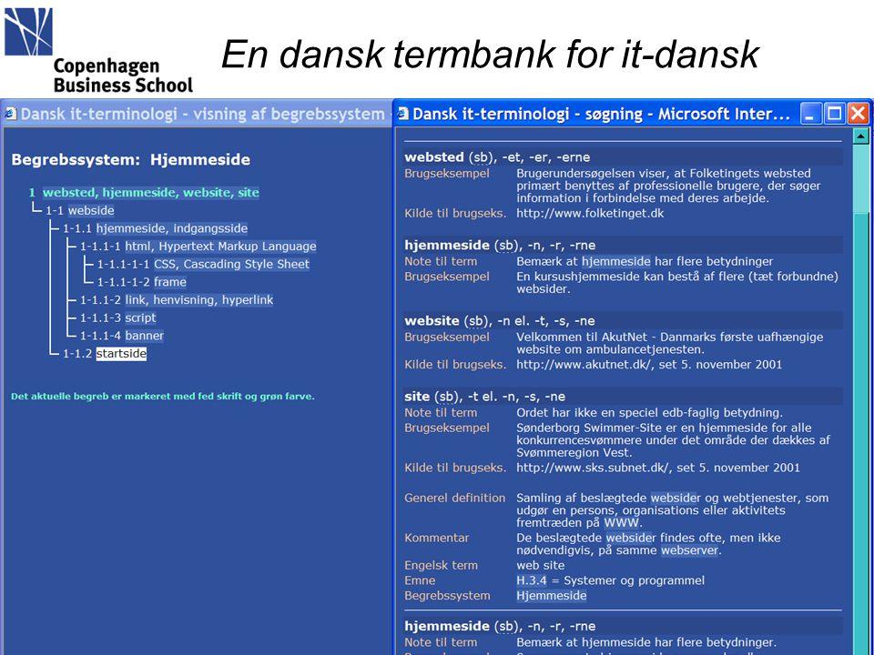 En dansk termbank for it-dansk