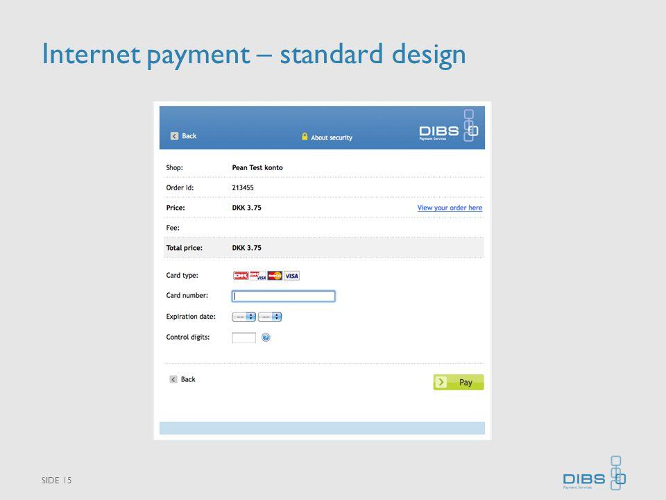 Internet payment – standard design SIDE 15