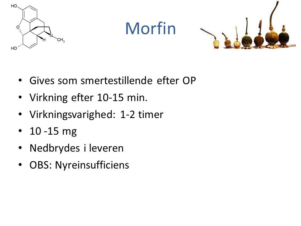 Morfin virkning