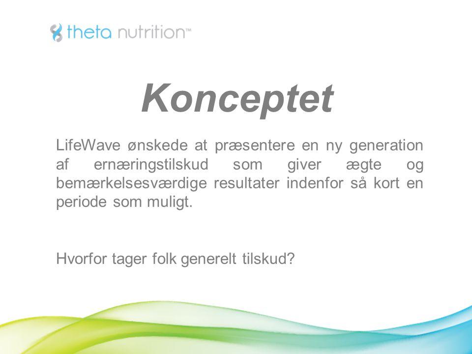 LifeWave ønskede at præsentere en ny generation af ernæringstilskud som giver ægte og bemærkelsesværdige resultater indenfor så kort en periode som muligt.